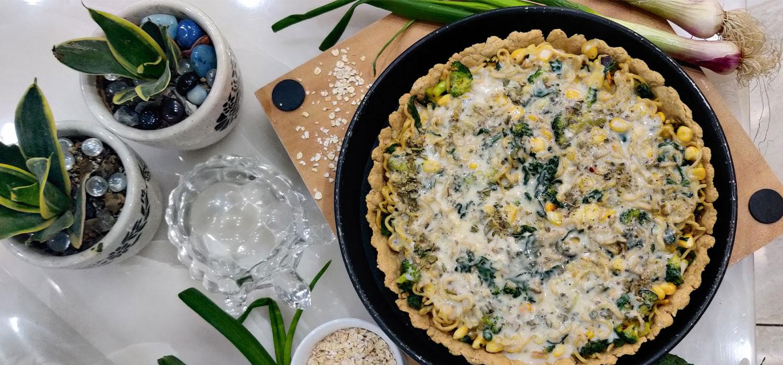Oats Quiche with Veg Thai Noodles Recipe
