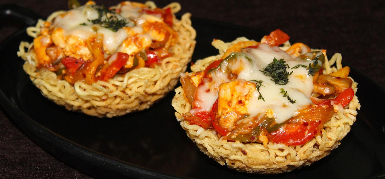 Cheesy MAGGI Baskets Recipe