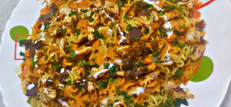 Bhoot Jolokia Flavoured Makhani Chicken MAGGI Recipe